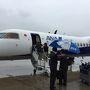 伊丹空港から大分空港へは、ANA利用の場合はプロペラ機になります。