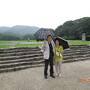 太宰日政庁跡は、空港からすぐ。  大雨なので、大野城登城は諦めて、政庁跡から遠望するのみ。
