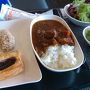 ●ANAラウンジ@関西空港  出発前の腹ごしらえ(笑)。 ANAカレー、レトルト感がなくて、凄く美味しい! お肉もゴロゴロ〜!