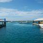 6/19の石垣離島ターミナル。 高速船ばかりで風情に欠けるとは言え、八重山の玄関口はちょっとワクワクする。