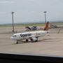 タイガーエアが到着。若干の遅延です。昼間にセントレアからの台湾へのLCCの便ができ、台湾旅行がしやすくなりました。
