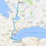 今日のルートです。 ナイアガラ・オン・ザ・レイクに立ち寄った後、昨日走ったQEWを取って返し、ON-400Nを北上、ON-11に入ってハンツビルを目指します。