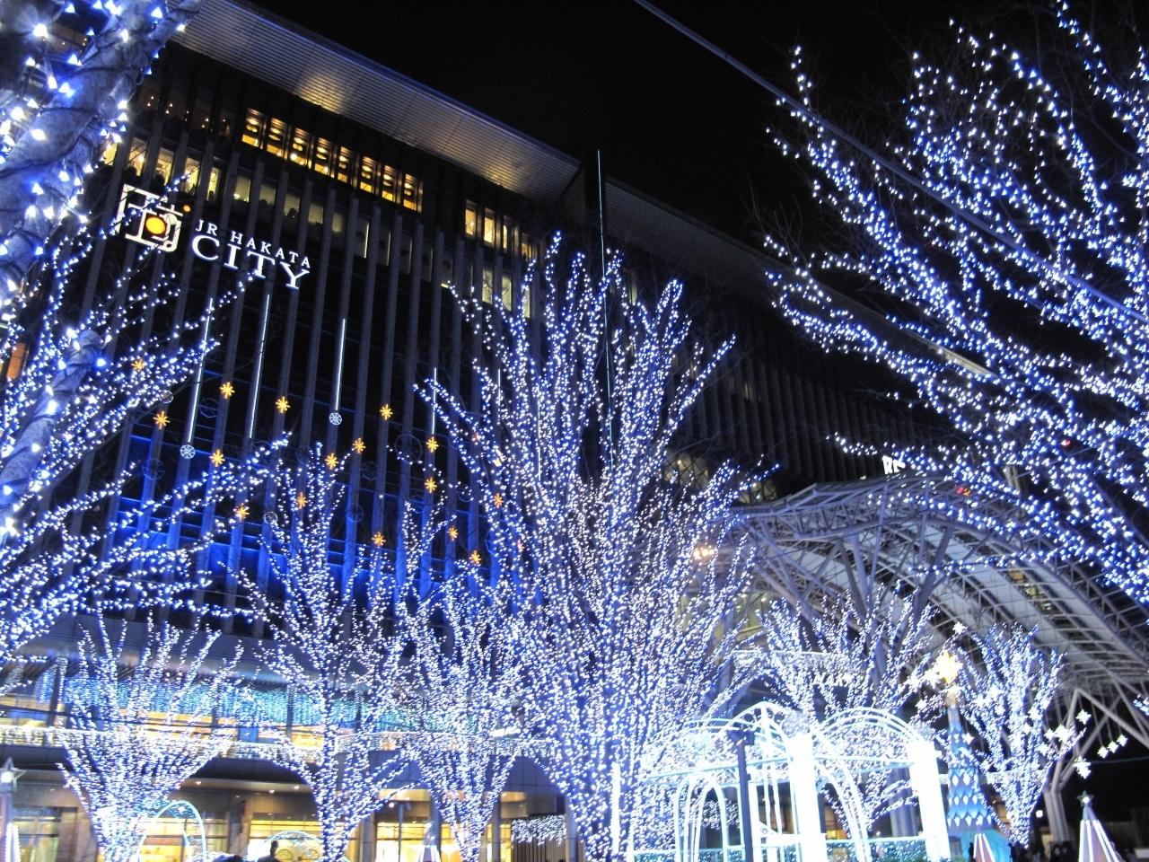 【2位】JR博多シティ イルミネーション